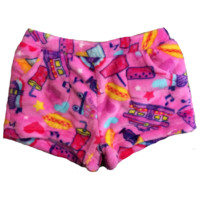 Candy Pink Super Soft Fleece Shorts The Hop