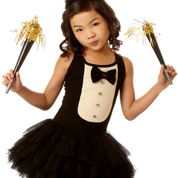 Ooh La La Couture Tuxedo Dress for Girls in Black and White PREORDER