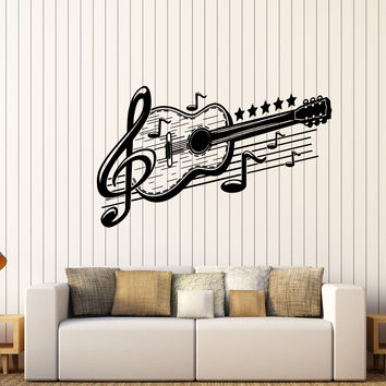 Vinyl Wall Decal Guitar Musical Art Music Decor Stickers Mural Unique Gift (443ig)