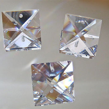 Swarovski Crystal Three Square Prism Suncatcher Ornaments,  22mm 1 inch