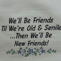 Funny Embroidered Dish Towel