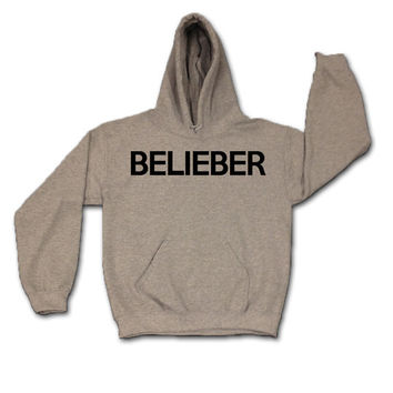 Belieber 026 X Justin Bieber 3XL & 2XL x Gray x Sweatshirt x Hoodie x Jumper x Hooded Sweater - All Sizes Available Hoody