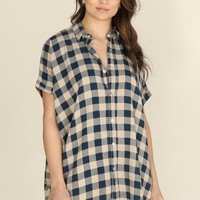 ACACIA - Mombasa Dress | Blue Check