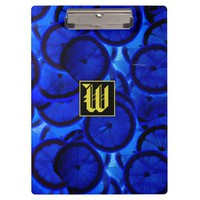 """Refreshing Blue Lemon slices texture with """"W"""" Mono Clipboard"""
