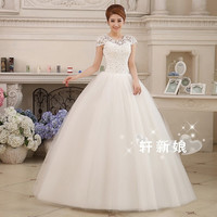 China Wedding Dress Ball Gown Bridal Gown Floor-Length Short Sleeves Organza Bridal Dress Vestido De Noiva Size 2-20 WE348 = 1932922628