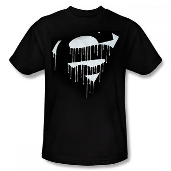 Superman Dripping Shield Mens T-Shirt
