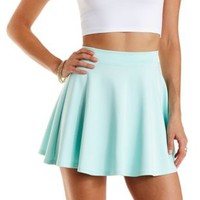 Scuba Knit Skater Skirt by Charlotte Russe - Mint