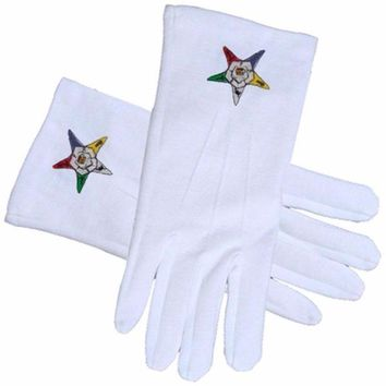 ORDER of the EASTERN STAR OES Masonic Gloves