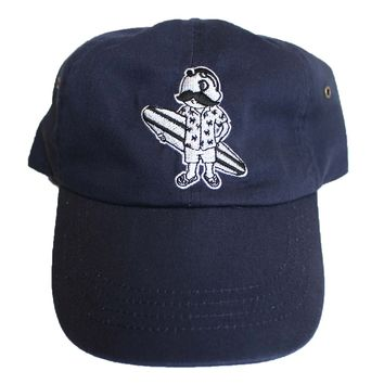 Natty Boh Surfer Dude in White (Navy) / Baseball Hat