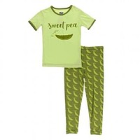 Kickee Pants Botany Collection Short Sleeve Piece Print Pajama Set