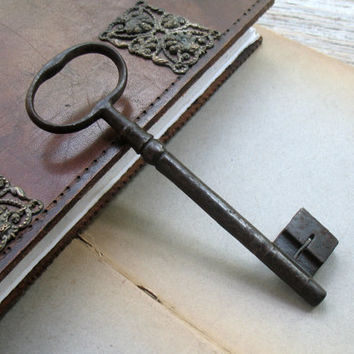 Huge Antique Keys - Large Gate Key -Collectible Key - Genuine Antique Skeleton Key - Iron key (L-80).
