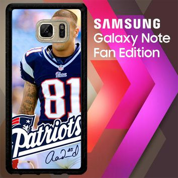 Aaron Hernandez Patriots W4921 Samsung Galaxy Note FE Fan Edition Case