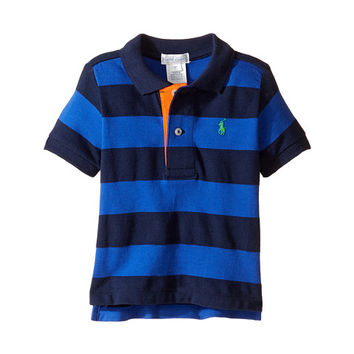 Ralph Lauren Baby Yarn-Dyed Mesh Stripe Polo Top (Infant) Cruise Royal Multi - Zappos.com Free Shipping BOTH Ways