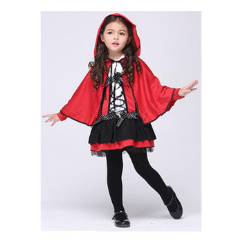 Halloween Attire New Year Children Kid Costume Red Little Ghost Cosplay