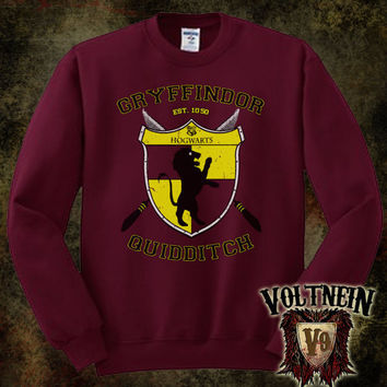 Gryffindor Crewneck Sweatshirt by VoltNein on Etsy