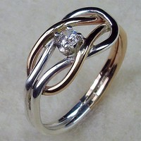 Celtic Love Knot Ring in Sterling Silver and by AviationJewelry