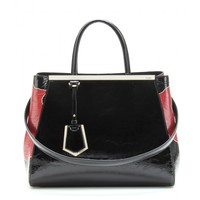 fendi - 2jours crinkled patent leather tote