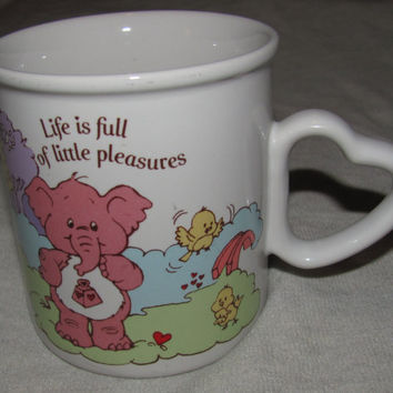 Care Bear Cousins Mug  with Heart Shaped by princessjainascloset