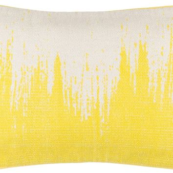 Bristle Throw Pillow Yellow, Neutral