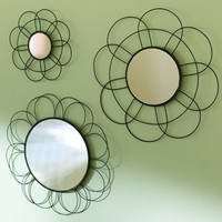 Flower Wire Mini Mirrors