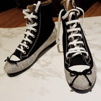 marco de vincenzo diamond converse canvas high top shoe