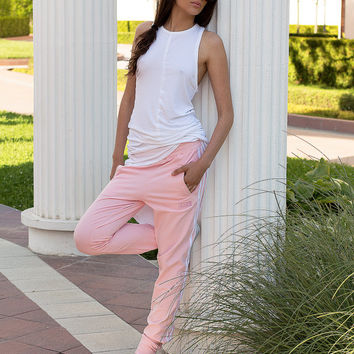 Pink bottom jogging / Pink tracksuit pants / Sport trousers / Athletic pants