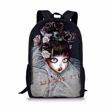 Girls bookbag FORUDESIGNS Cool Monster Backpack for School Girls Personalized Primary Kids Zombie Bagpack Grade Student Bookbags Mochila AT_52_3