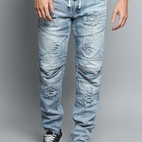 Distressed Drawstring Denim Jeans DL1168 - A3H