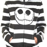 Nightmare Before Christmas Girls Hoodie - Jack Stripes