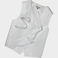 Pronto Uomo Formal White Vest Set - Formal Ties | Men's Wearhouse