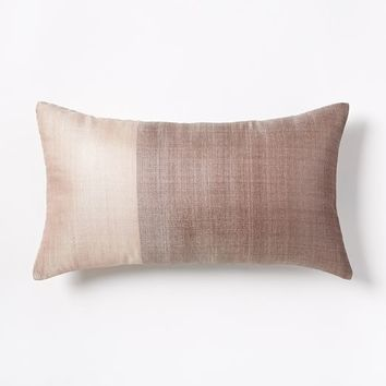 Sari Silk Pillow Cover - Rosette