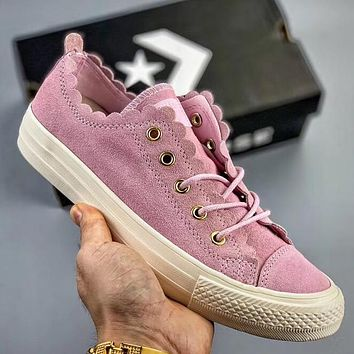 Trendsetter Converse Chuck Taylor All Star Frilly Thrills Ox  Women Fashion Casual Low-Top Old Skool Shoes