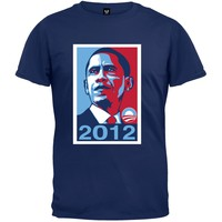 Obama - 2012 Campaign Poster Navy T-Shirt