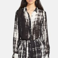 Women's A.L.C. 'Song' Print Silk Blouse,