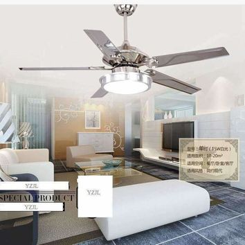 48inch ceiling chandelier fan lights LED chandelier fan modern minimalist dining room living room fan light ceiling chandelier