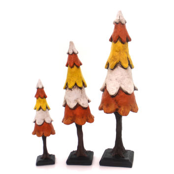 Karen & Mary Hammerschmidt Halloween Trees St/3 Halloween Decor