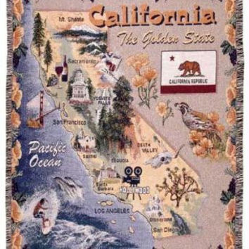 Throw Blanket - State Of California