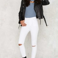 Zee Gee Why Swizzle Sticks High-Waisted Skinny Jeans