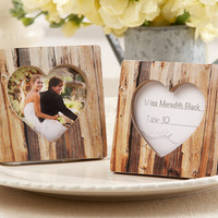 Wood Heart Place Card Holder/Photo Frame