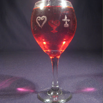 Kingdom Hearts Wine Glass