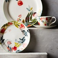 Climbing Rose Dinnerware by Michelle Morin Multi Dinner Plate Kitchen