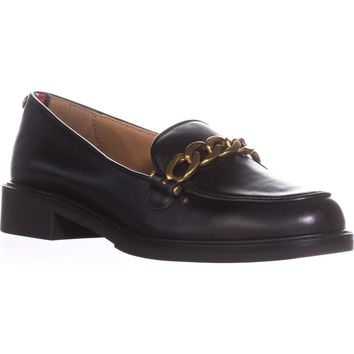 Tommy Hilfiger Bosse Loafers , Black, 6 US