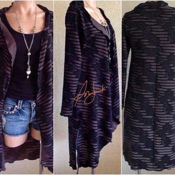 Women's Full Length Cardigan, Sexy Bohemian Cardigan, Sweater Pullover, Coverall, Tunic