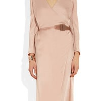 Donna Karan | Belted washed-satin dress | NET-A-PORTER.COM