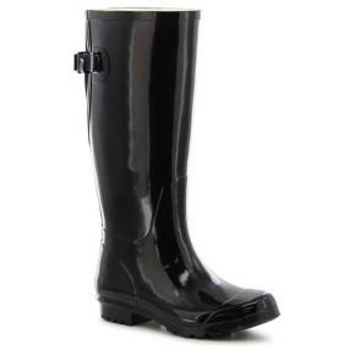 Women's Classic Tall Wide Calf Rain Boots - Black
