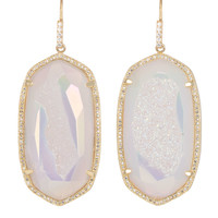 Large Pave-Trim Druzy Drop Earrings - Kendra Scott