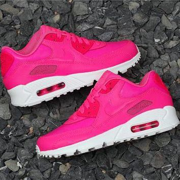 NIKE AIR MAX 90 fashion casual shoes F rose red