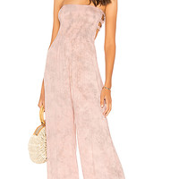 Tiare Hawaii Bennett Jumpsuit in Rose Smoke Tie Dye