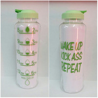Personalized Coffee Cup * Wake up Kick Ass Repeat  * 33oz water bottle * Personalized Water Bottle * BPA free