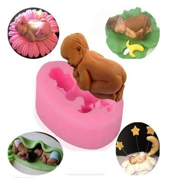 Baby Infant Silicone Cake Molds Cake Decorating Jelly Mold Fondant Chocolate Sugar Mould Handmade Soap Molds Baking Tools